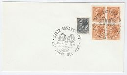 1971 CASARSA WINE FESTIVAL EVENT COVER Italy Stamps Drink  Alcohol - Wines & Alcohols