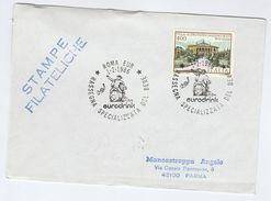 1986 Rome EURODRINK DRINKING  EVENT COVER Italy Stamps Drink Alcohol Wine - Wines & Alcohols