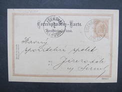 GANZSACHE Eisenbrod Zelezny Brod - Jizerodol 1898  Korrespondenzkarte /// D*28150 - Briefe U. Dokumente