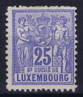 Luxembourg :  Mi 52 A   MH/* Flz/ Charniere  Perfo 12.50 - 1882 Allegorie