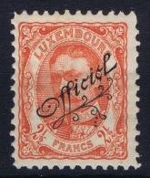 Luxembourg : Service Mi Nr 91 MH/* Flz/ Charniere   1908 - Dienstpost
