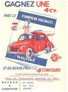 (Buvard D 12)   Buvard Cahier De Vacances Magnard - Blotters