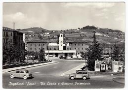 POGGIBONSI - SIENA - VIA CASSIA E STAZIONE FERROVIARIA - ANNI '50 - AUTOMOBILI - CARS - Siena