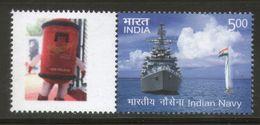India 2016 Indian Navy War Ship Submarine Military Transport My Stamp MNH # M50 - Submarines