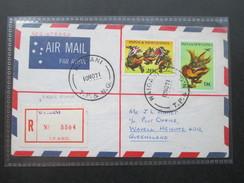 Registered Letter 1971 Waigani No 5504 Papua Newguinea. Nach Queensland.6 Stempel / Six Cancels - Papua-Neuguinea