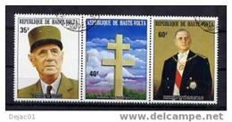 HAUTE VOLTA - Général De Gaulle - Yvert 302/304 - Oblitérés - De Gaulle (Général)