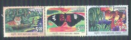 3 Used Stamps Nature Tiger Butterfly Gazelle India 2017 - Inde