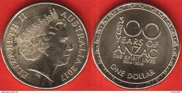 "Australia 1 Dollar 2017 ""100 Years Of ANZAC"" UNC - Australia"