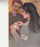 VECCHI-Serie 1002-Croce Rossa Italiana -Vg Il 25.11.1915-Originale 100% - Illustratori & Fotografie