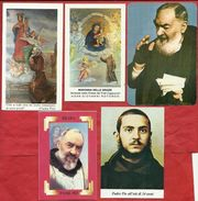 PS- -----5 SANTINI DIVERSI DI SAN PIO DA PIETRELCINA DI CUI UNO CON CALENDARIO 1991-----2 SCANS - Images Religieuses