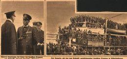 Der Dampfer Mit Den Aus Coloniki Zurückkehrenden Deutschen Truppen In Wilhelmshaven /Druck,entnommen Aus Zeitung/1919 - Livres, BD, Revues