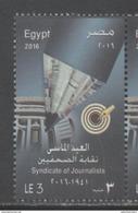 EGYPT, 2016, MNH, PRESS, JOURNALISTS, JOURNALIST SYNDICATE, 1v - Other