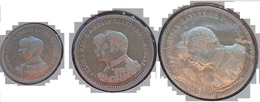 Portugal - D. Carlos 200, 500 And 1000 Reis 1898 Set 400Th Anniversary Discovery Of India - XF/SUP - Silver - - Portugal