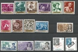 TP D'ESPAGNE N° 1507/16 + 1517/20 + 1521/22  NEUFS SANS CHARNIERE - 1961-70 Neufs