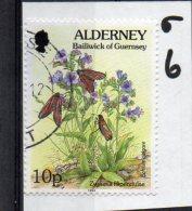 ALDER NEY 1994-98 Flora And Fauna 10p Used - Alderney