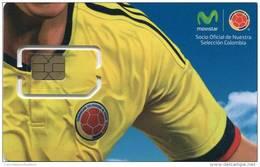 Lote TT227, Colombia, Tarjeta Telefonica, Phone Card, Movistar, SIM Prepago, Prepaid, Mint, 2016, Soccer, Futbol - Colombia