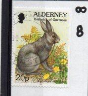 ALDER NEY 1994-98 Flora And Fauna 20p Used Ex Booklet - Alderney