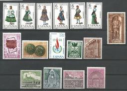 TP D'ESPAGNE N° 1524/29 + 1530/32 + 1533 + 1534 + 1535/39  NEUFS SANS CHARNIERE - 1961-70 Neufs
