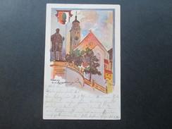 AK 1901 Gruss Aus Augsburg Künstlerkarte AD Bayer! Carl Reidelbach & Co Kunstverlag No. 6 - Gruss Aus.../ Grüsse Aus...