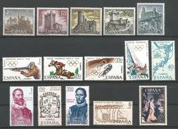 TP D'ESPAGNE N° 1540/44  + 1545/48 + 1549/53 + 1554  NEUFS SANS CHARNIERE - 1961-70 Neufs