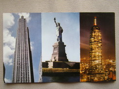 Famous New York City Landmarks, RCA Building, Statue Of Liberty, And The Empire State Building. Progressive Publ K29 - Multi-vues, Vues Panoramiques