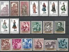 TP D'ESPAGNE N° 1555/57 + 1558/60C + 1561/70  NEUFS SANS CHARNIERE - 1961-70 Neufs