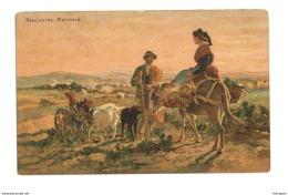 Rencontre Matinale - Homme Et Femme - Ane - Chien - Vache - 3488 - Peintures & Tableaux
