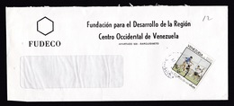 Venezuela: Cover, 1989, 1 Stamp, Soccer, Football, Sports, Rare Real Use (traces Of Use) - Venezuela