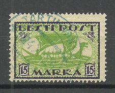 ESTLAND Estonia 1922 Michel 23 A O Tartu-Vaksal Violet Cancel - Estonia