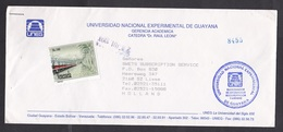 Venezuela: Cover To Netherlands, 1994, 1 Stamp, Train, Rare Real Use (stamp Damaged) - Venezuela
