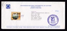 Venezuela: Cover To Netherlands, 1994, 1 Stamp, Metro Train, Rare Real Use (traces Of Use) - Venezuela