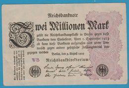 DEUTSCHES REICH 2 MILLIONEN MARK 09.08.1923 Serie WB P# 104a - 2 Millionen Mark