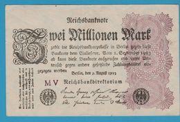 DEUTSCHES REICH 2 MILLIONEN MARK 09.08.1923 Serie MV P# 104a - 2 Millionen Mark