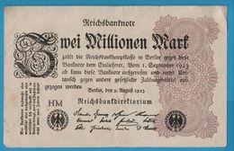 DEUTSCHES REICH 2 MILLIONEN MARK 09.08.1923 Serie HM P# 104a - 2 Millionen Mark