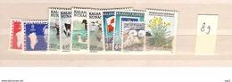 1989 MNH Greenland Year Complete, Postfris - Groenlandia