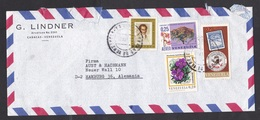 Venezuela: Airmail Cover To Germany, 4 Stamps, Flowers, Humboldt Flower, Tree, Exfilca, Philately (roughly Opened) - Venezuela