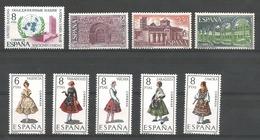 TP D'ESPAGNE N° 1659 + 1660/62 + 1669/73  NEUFS SANS CHARNIERE - 1961-70 Neufs
