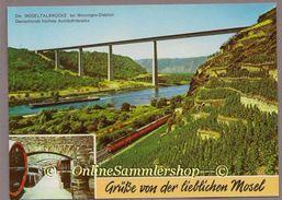 BRD - AK (DH8) : Moseltalbrücke Bei Winningen-Dieblich / Eisenbahn, Weinkeller - Other