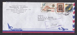 Venezuela: Airmail Cover To Germany, 1973, 3 Stamps, Planetarium Humboldt, Astronomy, Map, Rare Real Use (traces Of Use) - Venezuela