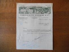 CLICHY ETABLISSEMENTS DUBUQUOY & Cie APPROVISIONNEMENT GENERAL 25 RUE VILLENEUVE COURRIER DU 14 OCTOBRE 1942 - France