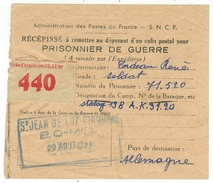 Récèpissé  Pour Prisonnier De Guerre - Documents Historiques