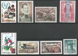 TP D'ESPAGNE N° 1707 + 1708/10 + 1711 + 1712/13 + 1716 NEUFS SANS CHARNIERE - 1961-70 Neufs