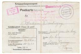 Carte Postale, Service Des Prisonniers De Guerre - Documents Historiques