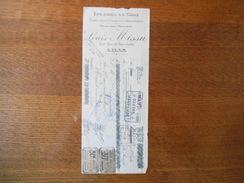LILLE LOUIS MISSU EPICERIES EN GROS 4 ET 6 RUE DU BAS-JARDIN TRAITE DU 15 FEVRIER 1924 - France