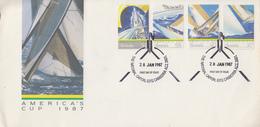 Enveloppe  FDC  1er  Jour   AUSTRALIE    AMERICA ' S   CUP     1987 - Voile
