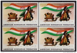 HUNGARICA / USA  Hungary Exile LABEL CINDERELLA VIGNETTE - American Hungarian Federation - CHRISTMAS FLAG - Unused Stamps