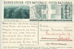 1933 Bundesfeier - Fête Nationale  Bild   Kärp Ältester Jagdbannbezirk - Stamped Stationery