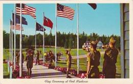 Michigan Mackinac Island Flag Ceremony At Fort Mackinac