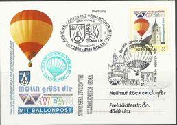 Oostenrijk Persoonlijke Zegel Ballonpost, Op Kaart, Prachtig Gestempeld,  Zie Scan - Par Ballon