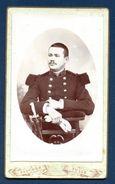 Mini-photo Cartonnée. Soldat Du 80ème Régiment D'infanterie Basé à Tulle. Photo Faucher, Tulle - Guerre, Militaire